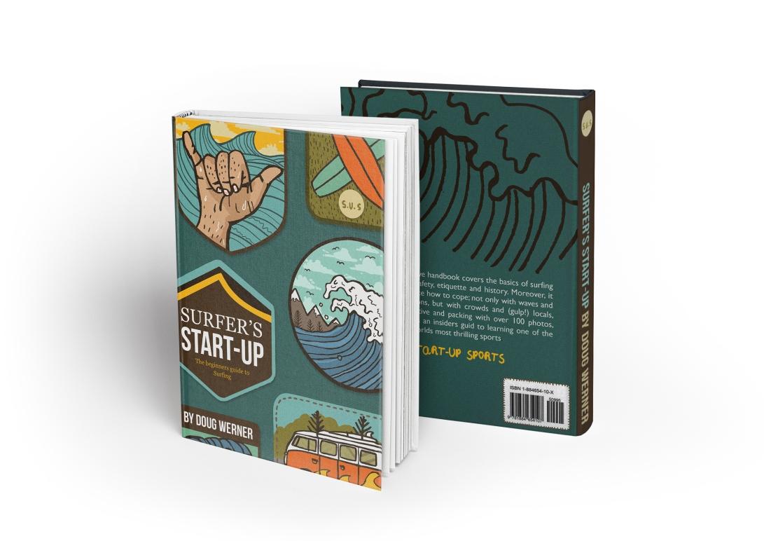Hardcover Book MockUp SURF