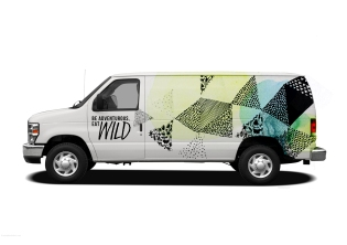 pattern van with colour